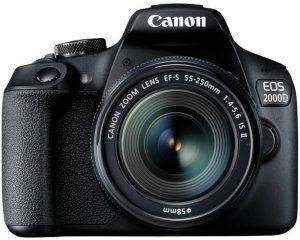 beste spiegelreflexcamera canon eos 2000d