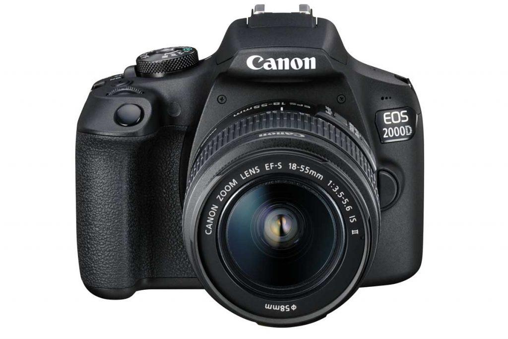 canon eos 2000d met lens