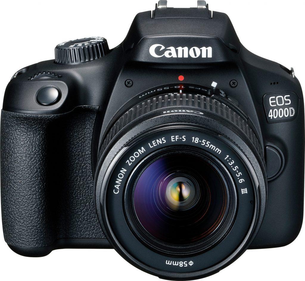 canon eos 4000d met lens