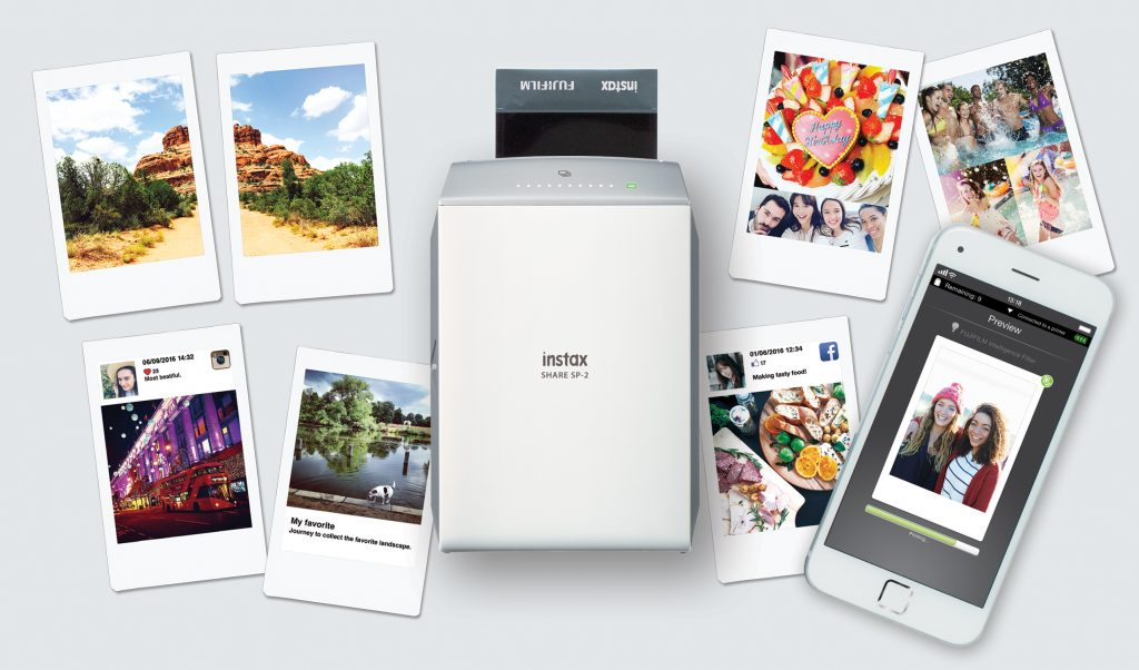 connectiviteit bij een polaroid camera printer