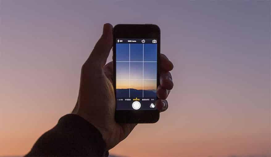 Smartphone fotografie regel van derden