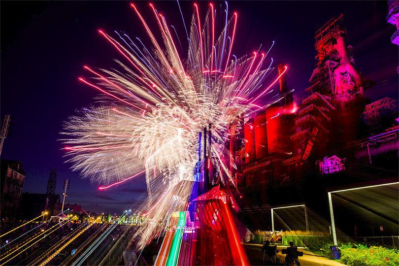 Vuurwerk abstract